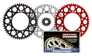 Renthal Grooved / Ultralight Sprockets And R1 Works Chain For 87-05 Honda Cr125r