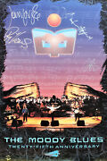 The Moody Blues Hand Signed Large Poster Justin Hayward Jon Lodge And G.edge.