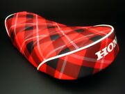 Honda Motorcycle Custom Parts Monkey Low Down Tack Roll Seat Red Check New