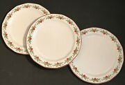 Porsgrund Norway Hearts And Pines 3 Bread Butter Plates Multisided Octavia 6 7/8