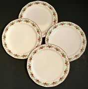 Porsgrund Norway Hearts And Pines 4 Bread Butter Plates Multisided Octavia 6 7/8