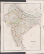 Arrowsmith - Map Of India. 2-32 - 1842 Folio Hand-colored Engraving