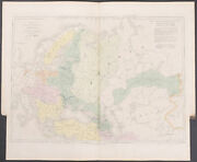 Arrowsmith - Map Acquisitions Of Russia. 2-51 1842 Folio Hand-colored Engraving