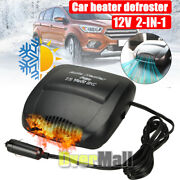 2 In 1 Portable Ceramic Car 12v Dc Plug In Vehicle Heating Cooling Heater Fan Us