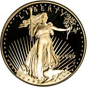 1999-w American Gold Eagle Proof 1 Oz 50 - Coin In Capsule