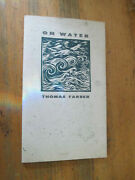 Thomas Farber On Water Okeanos Press Limited Edition 1991