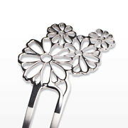 Stainless Steel Hairpin Kanzashi Flowers Daisy Made By Sheet Metal Craftsman