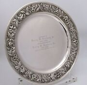 S. Kirk And Son Sterling Silver Repousse Tray 13 7/8w Presentation Piece
