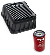 Ppe Brushed Deep Transmission Pan And Spin On Filter For 2001-2019 Gm 6.6l Duramax