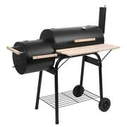 Barbecue Outdoor Oil Drum Charcoal Grill Stainless Steel Stove Patio Camping Bbq