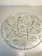 Anchor Hocking Star Of David Early American Prescut 13 Platter / Cake Plate