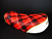 Honda Motorcycle Custom Parts Monkey Low Down Tack Roll Seat Red Check/white New