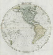 Western Hemisphere. North And South America. Polynesia. Thomson 1830 Old Map