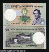 Bhutan 10 Ngultrum P29 2006 Z/3 Replacement King Jigme Unc Currency Money Note