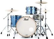 Pearl Masters Maple Complete 3-piece Shell Pack - 24 Kick - Chrome Contrail