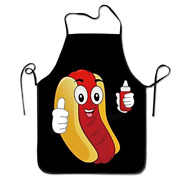 Novelty Funny Hotdog Ketchup Unisex Kitchen Chef Apron - Chef Apron For And Bbq