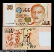Singapore 100 Dollars 2015 1 Or 2 Triangle Unc Red Cross St.john Police Scout
