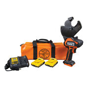 New Klein Tools Bat20-g2 Battery-operated Acsr Open-jaw Cutter Tool Kit 2 Ah