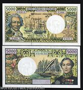 French Pacific Territories 5000 5000 Francs P3c 2004 Ship Unc France Bill Money