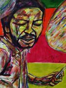 Tony Williams Drums Jazz Art Musician Abstract Acrylic Painting 18 X 24