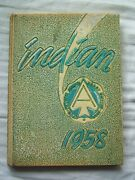 1958 Anderson High School Yearbook Anderson Indiana Indian