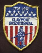 America's Bicentennial 1776-1976 Claymont Delaware Embroidered Twill Patch