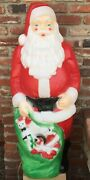 Santa Claus And His Bag Of Toys And Gifts - 4 Feet Tall - Blow Mold Yard Ornament