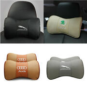 4 Colors Genuine Leather Breathable Car Headrest Auto Seat Neck Safety Pillow