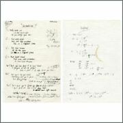 Paul Weller 1998 And Worlds End With Time And Temperance Handwritten Lyrics Uk