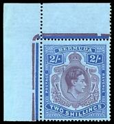 Bermuda 1943 Kgvi 2s Shows Shading Omitted From Top Right Scroll Vfm. Sg 116db.