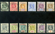 Gambia 1904 Kevii Set Complete Very Fine Used. Sg 57-68.