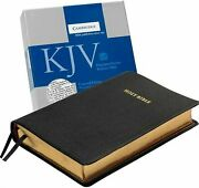 Holy Bible King James Version, Black, Goatskin Leather, Concord Reference E...