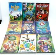 Lot Of 9 Disney Dvdand039s Hop The Incredibles A Bugand039s Life [re-sealed] Andtrade