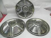 1965 Ford Mustang Vintage Used Set Of Three 14 Inch Hubcaps Wheel Cover Original