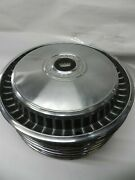 1971-1972 Ford Vintage Original Used Set Of Eight 15 Inch Hubcaps Nice Condition