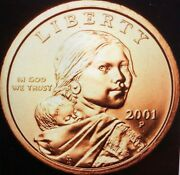 2001-p And 2001-d Sacagawea One Dollar Coins Bu From Us Mint Sets 271