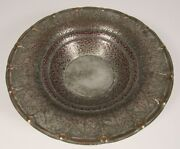 Vintage Middle East Islamic Tin Washed Hand Hammered 10 Copper Bowl