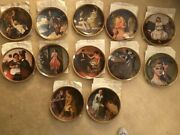 """Norman Rockwell's """"rediscovered Women"""" 12 Decorative Plates Series Classic"""