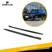 2pcs Carbon Fiber Side Skirts Extension Lip Trim For Bmw X5 M Sport 2019-2020