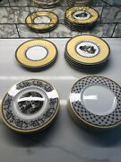 Villeroy And Boch - Audun Bread And Butter Plate - Set Of 16 - 4 Assrted Patterns