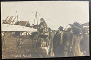 Mint Rppc Real Picture Postcard Early Aviation Poulain In Flight 1915