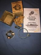 Model T Ford Crystal Glass Distributor Cap Ignition Timer Nos W - Box And Ad
