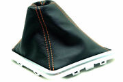 Leather Synthetic Manual Boot Fits Dodge Challenger Str8 Stx 08-14 Orange Stitch