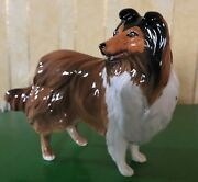Beswick Dog Rough Collie Model No 3129 Brown And White Gloss Perfect
