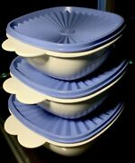 Vintage Tupperware 6 Pc Set 2510, 2511, 2512 One Touch Stacking Bowls W Seals