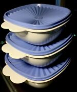 Vintage Tupperware 6 Pc Set 2510 2511 2512 One Touch Stacking Bowls W Seals