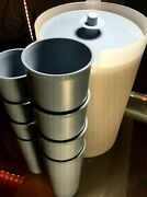 Tupperware New Vintage Lg 1 Gal.pitcher Setw Push Button Seal And 8 Tumblers