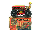 Loius Marx Midget Climbing Tractor, Vintage, Wind-up, With Box