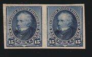 Us 227p5 15c Clay Pair Plate Proof Pair On Stamp Paper Vf Og Ph Scv 625
