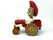 Marx Jalopy Cowboy Car Plastic And Tin Vintage 1950and039s Wind-up